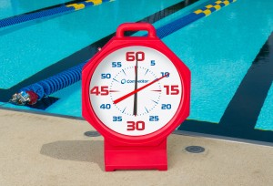 """200400 15"""" Red Pace Clock With White Face"""